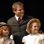 Colin (Harrison Osborne), Archibald (Brett Budgeon) & Mary (Andrea Hendrey)